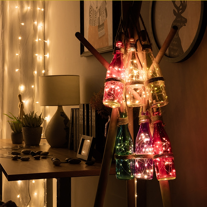 2M LED Garland Copper Wire Corker String Fairy Lights Glass Craft Bottle New Year/Christmas/Valentines Wedding Decoration