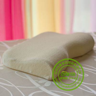Isante Curved Memory Foam Pillow Cotton Velvet Cover effectively care cervical vertebra &  vertebra of shoulder