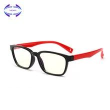 VCKA Детские анти-синие блокирующие очки ретро квадратные TR90 компьютерные очки оправа для мальчиков и девочек оправы для очков
