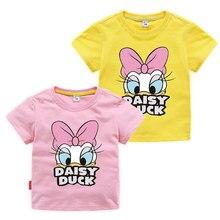 Baby Girl Clothes Donald Duck T Shirt Summer Cotton Short Sleeve Tops Printing Children Cartoon Multicolor Girls