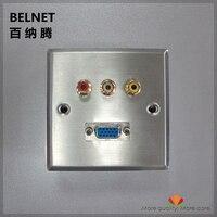 86 Welding AV Module Sound Video Signals Wall Socket Rca Socket Lotus Socket VGA Panel Elv