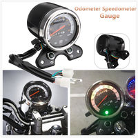 1pc 12 v motocicleta odômetro velocímetro tacômetro substituir para suzuki cafe racer|Velocímetros| |  -