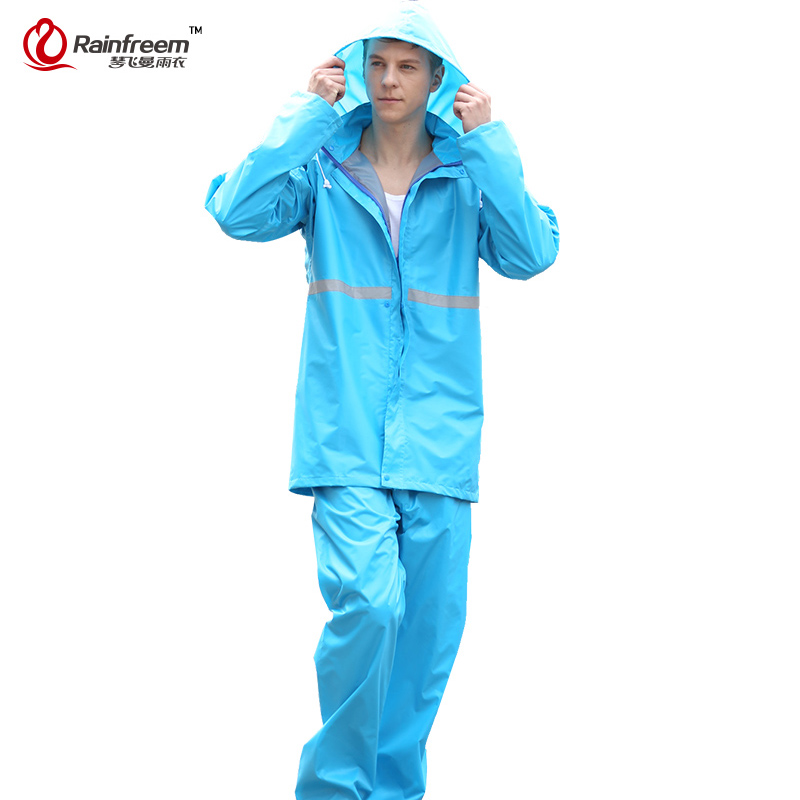 Rainfreem Breathable Impermeable Raincoat Kvinnor / Herrdragter Rain - Hushållsvaror