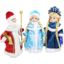 12 Inch 2016 New Snow Princess Porcelain Dolls 30cm Snowmaid Snowgirl Russia Winter Decoration Kids Birthday Gifts