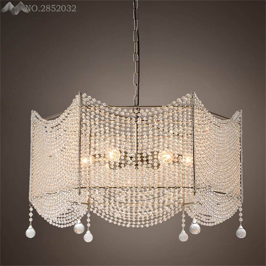 Long Dining Room Chandeliers: JW_Crystal Large Foyer Light Chandelier Long Stair Modern