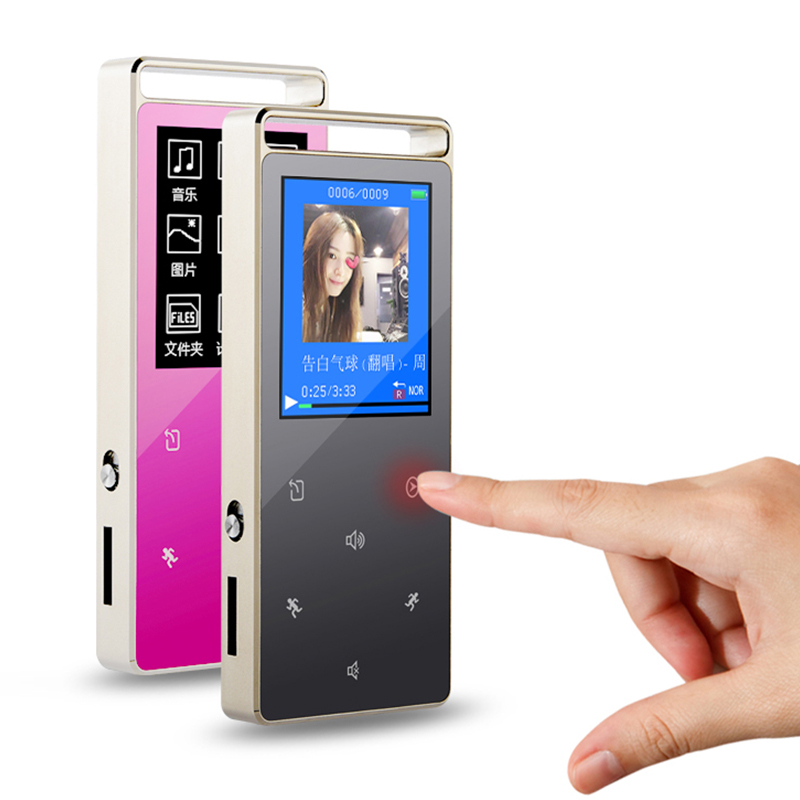 NEW RUIZU D01 Sport HIFI MP3 Player 8G Screen Touch Key MP3 Music Player Speaker Video