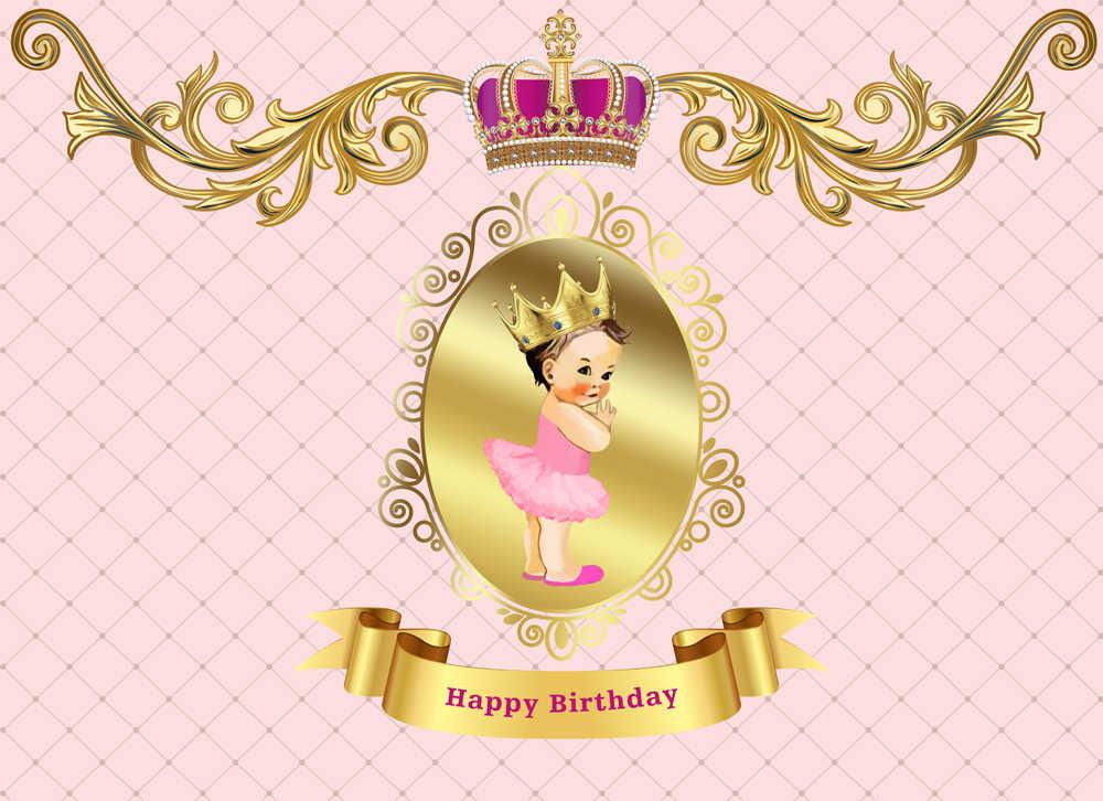 Фон для фотосъемки маленькой принцессы с розовым бантом виниловый Королевский