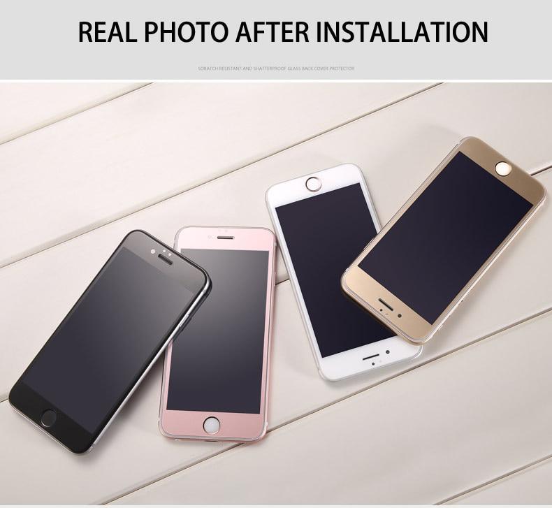 Online Shop Altin RoseGold Siyah Beyaz 4 Renkler 9 H Tam Temperli Cam Filmi Apple IPhone 6 S Icin On Ekran Koruyucu Film Telefon Vaka