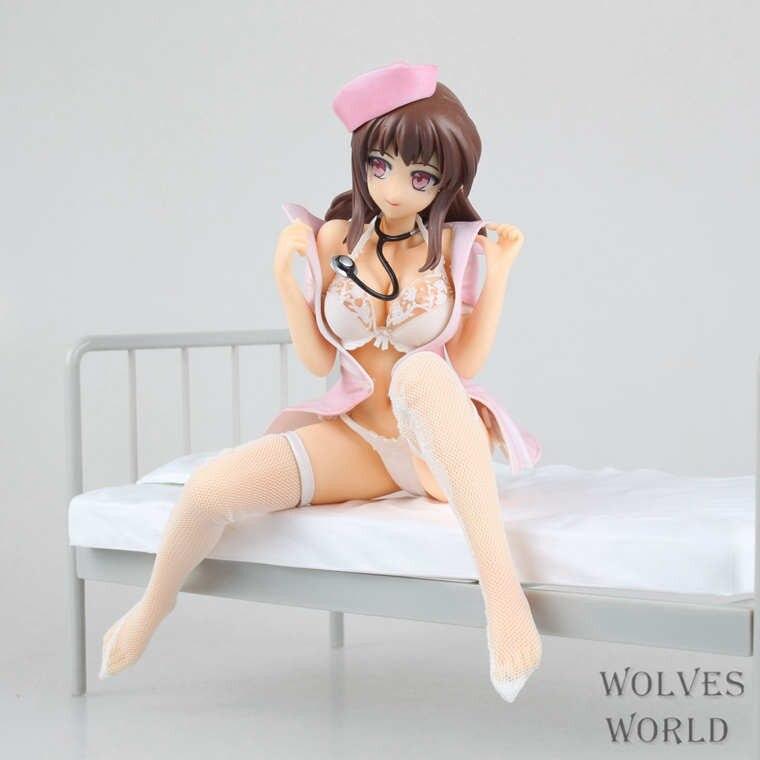 22CM Anime Lechery Daydream Nurse Miyuu 1/6 PVC Sex Girls  Action Figure Brinquedos Collectible Model Toy