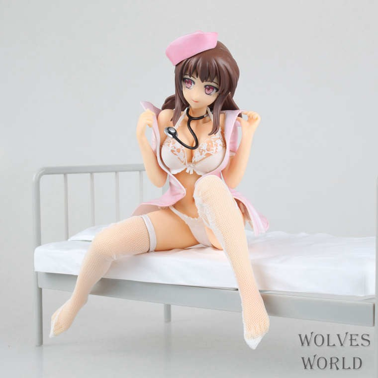 22CM Anime Lechery Daydream Nurse Miyuu <font><b>1/6</b></font> PVC <font><b>Sex</b></font> Girls Action <font><b>Figure</b></font> Brinquedos Collectible Model Toy image