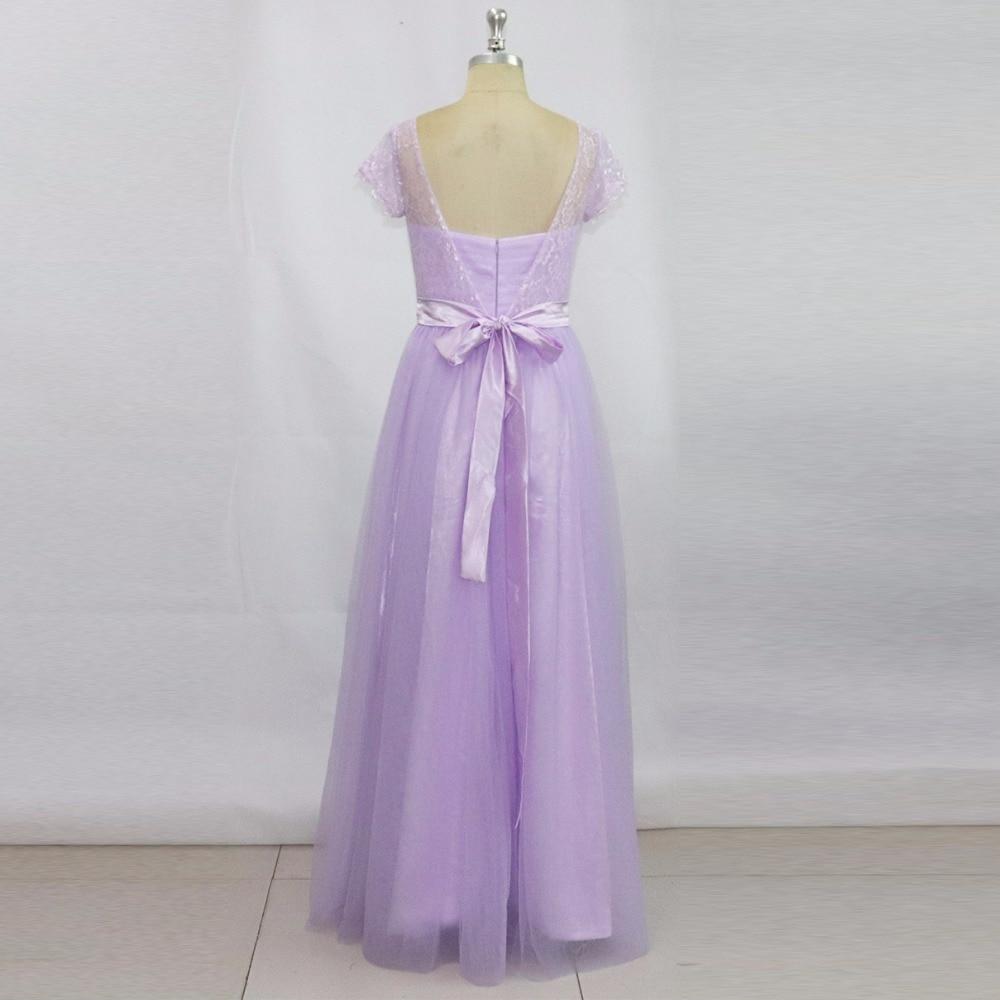 Vestidos de Festa Vestido Longo Vacker Lavendel Lång Brudtärna - Bröllopsfestklänningar - Foto 2