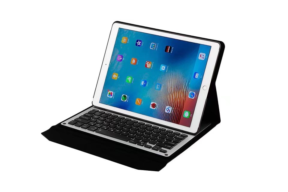 For Apple iPad Pro 12.9 Keyboard  Carbon Fiber PU Leather Smart Cover For Apple iPad Pro 12.9 Case Bluetooth Keyboa+pen
