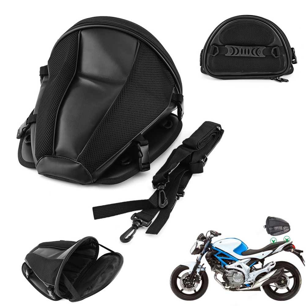 Motorcycle Bags Luggage Moto Bike Sports Waterproof Back Pack Seat Carry Tail Bag Storage Saddlebag Leather For Motorbike Tool