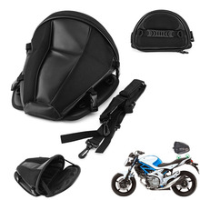 Motorcycle Bags Luggage Moto Bike Sports Waterproof Back Pack Seat Carry Tail Bag Storage Saddlebag Leather for Motorbike Tool