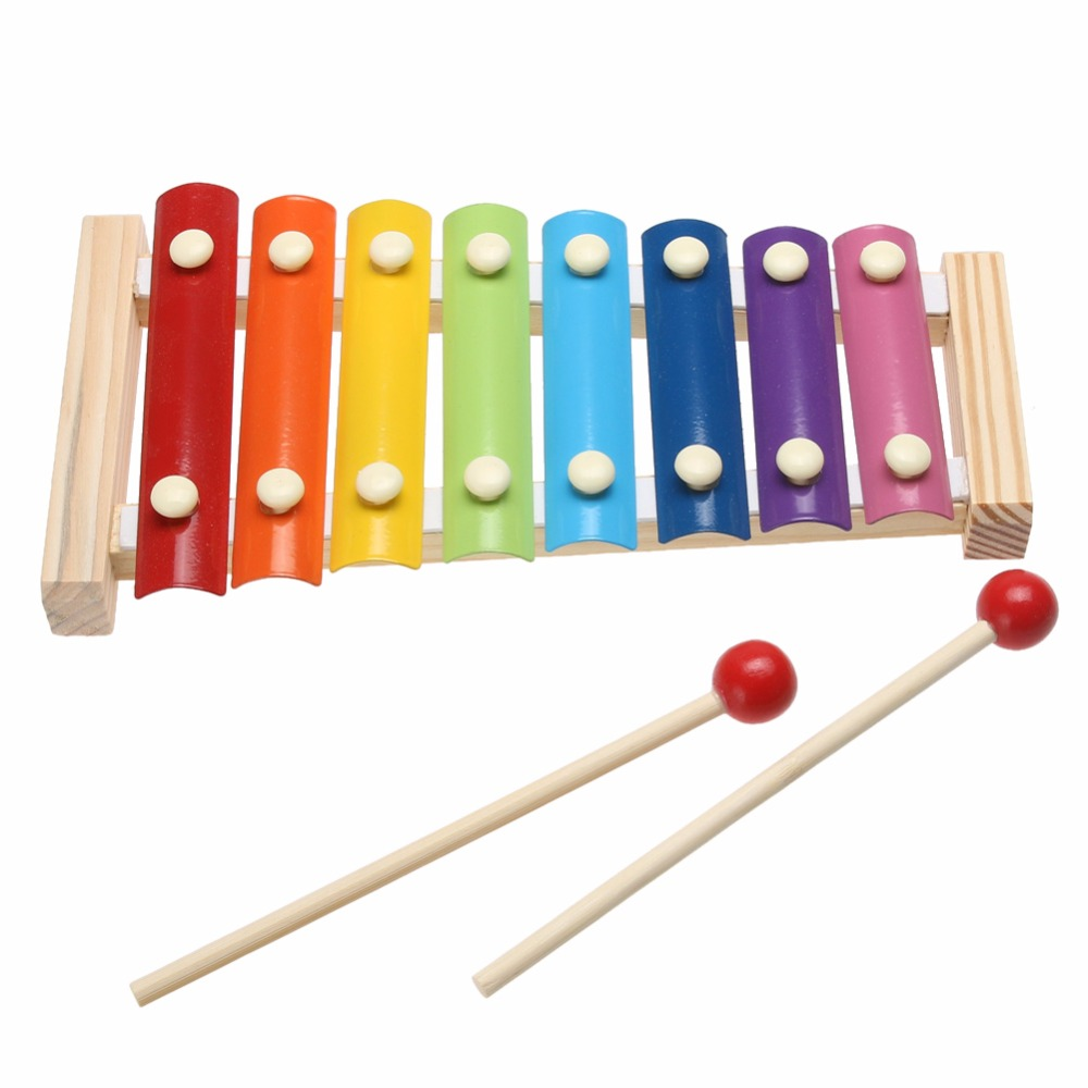 Newest Learning Education Wooden Xylophone For Children Kid Musical Toys Xylophone Wisdom Juguetes 8-Note Music Instrument