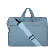 Mosiso 11 13 14 15 inch Men Women Denim Strap Laptop Case Bag for Macbook Pro Air Lenovo HP Dell 13.3 15.6 Acer Chromebook(China)