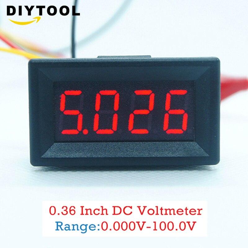 17v blue led petit panneau compteur Batterie lithium mini digital voltmeter dc 3.3 v