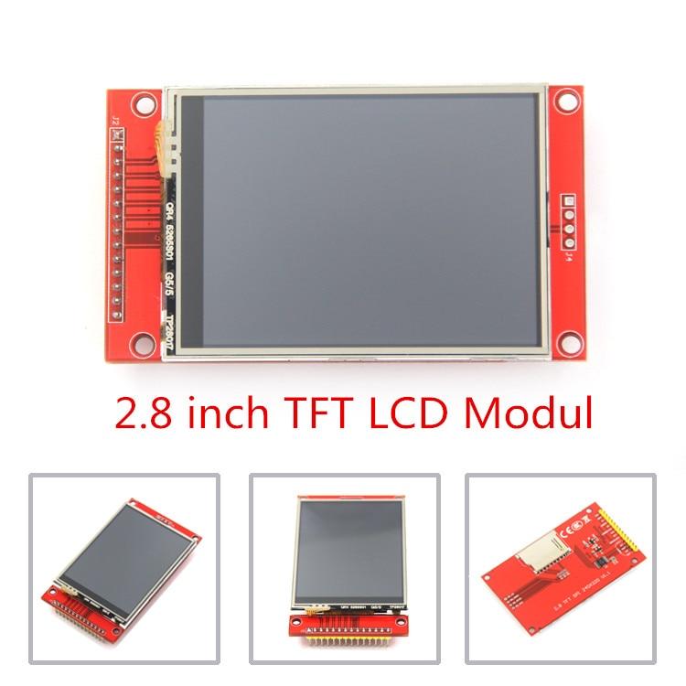"""2.8 """"240x320 Module de Port série d'affichage à cristaux liquides de TFT de SPI avec l'adaptateur de carte PCB Micro SD ILI9341 5 V/3.3 V 2.8 pouces affichage de LED pour l'interface 5110"""