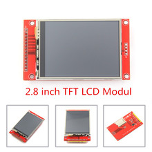 "2.8 ""240x320 SPI TFT LCD Seriële Poort Module Met PCB Adapter Micro SD ILI9341 5 V/ 3.3V 2.8 inch LED Display Voor 5110 Interface"