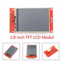 "2.8"" 240x320 SPI TFT LCD Serial Port Module With PCB Adapter Micro SD ILI9341 5V/3.3V 2.8 inch LED Display For 5110 Interface"