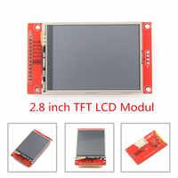 """2.8 """"240x320 SPI TFT LCD Serial Port Modulo Con Adattatore PCB Micro SD ILI9341 5 V/ 3.3V 2.8 pollici Display A LED Per Il 5110 di Interfaccia"""