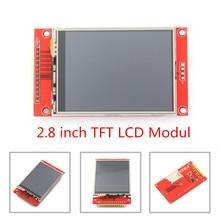 """2.8 """"240x320 SPI TFT LCD moduł portu szeregowego z adapter pcb Micro SD ILI9341 5 V/3.3 V 2.8 cal wyświetlacz LED dla 5110 interfejs"""