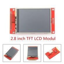 """وحدة منفذ تسلسلي LCD TFT SPI 2.8 """"240x320 مع محول PCB محول مايكرو SD ILI9341 5 V/3.3 V 2.8 بوصة شاشة LED لواجهة 5110"""