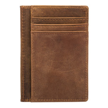 Vintage Simple Thin Fashion Genuine Cow Leather Card Case Business Card Holder Men Women Credit Card Bag ID Card Wallet 1040-2 kavis brand cow genuine leather credit card holder 14 card slots men women business card purse id wallet travel for credit cards