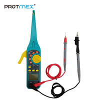 PROTMEX 86A Multifunction LCD Display Automotive Vehicle Circuit Tester AC/DC 12V/24V Voltage Signal Tester With Resistor Diode