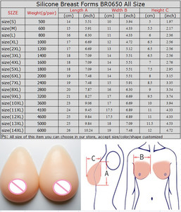 Image 5 - Big Promotion Artificial Breast Forms Silicone Breast Fake Boobs 2800g/pair For Drag Queen Crossdresser Transgender