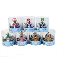 7 Styles Super Mario Bros. Mario Pull Zurück Kart Racer Auto Donkey Kong Luigi Yoshi Toad Prinzessin Action figuren Spielzeug Für Kinder Geschenk-in Action & Spielfiguren aus Spielzeug und Hobbys bei