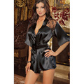 Sexy Nightgown For Women Erotic Lace Temptation Lingerie Comfortable Chiffon Bathrobe Transparent Fetish Pajamas G-string
