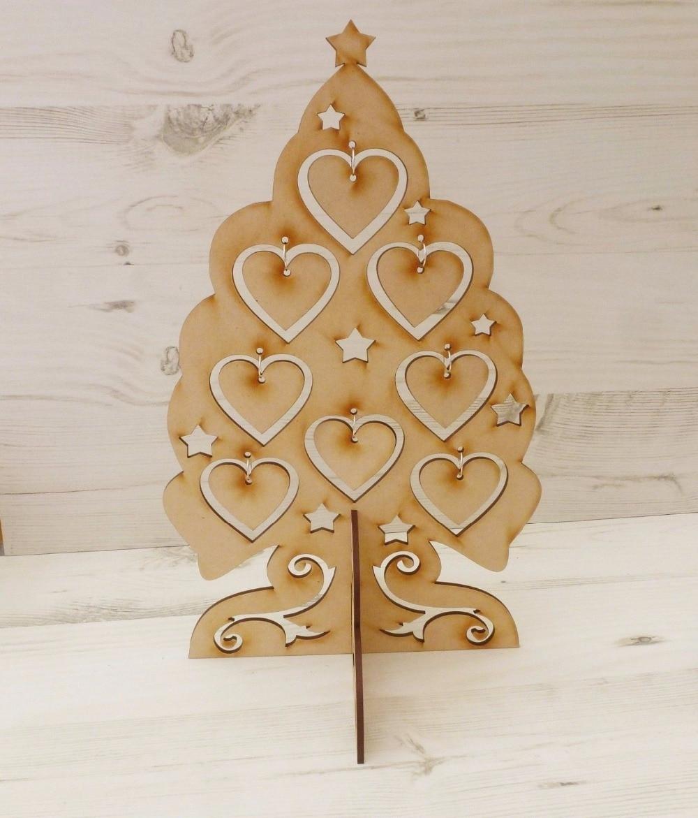 Sapin De Noel Suspendu En Bois décoration de noël en bois coeur noël suspendu plaque fêtes