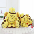 Kawaii Yellow Robot Plush Toys 35/45cm Robot cute cushion brinquedos Cloth Doll Boy birthday Gift baby toys