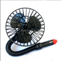 12V 5Inch Powered Mini Automobile summer Fan Car Truck Vehicle Cooling Cool Air Fan with Suction Cups Black