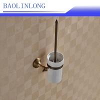 BAOLINLONG Brass Antique Toilet Brush Set Toilet Cleaning Brush Toilet Brush Daily Necessities Seal Design Radiant Handle