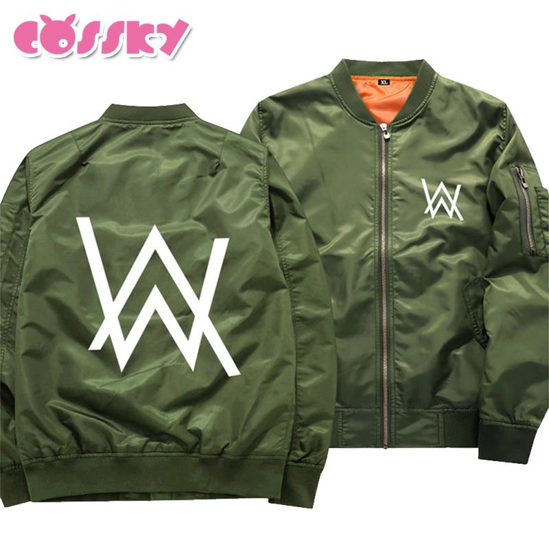 DJ Alan Walker Faded Coat Men Winter Jacket Thicken Warm Sweatershirt Fleece Zipper Jackets Hoodie Fashion Outwear Black Green