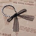 1 Pc Moda Mulheres Meninas Falso Pérola Lace Jóias Headband Cabeça Faixa de Cabelo Pedaço-Y107