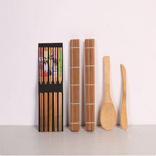 Бамбуковый Коврик для суши комплект карбонизированные рулонные коврики для прессформы-стойкий направляющий рулон для начинающих для изготовления суши комплект