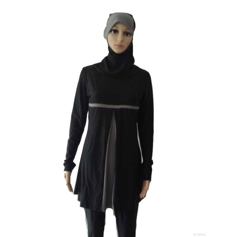 Muslim Swimwear Full Coverage Sleeve High Quality Burkinis Beach Wear Plus Size Women Islamic Swim Wear Swimsuits in Muslim Swimwear from Sports Entertainment