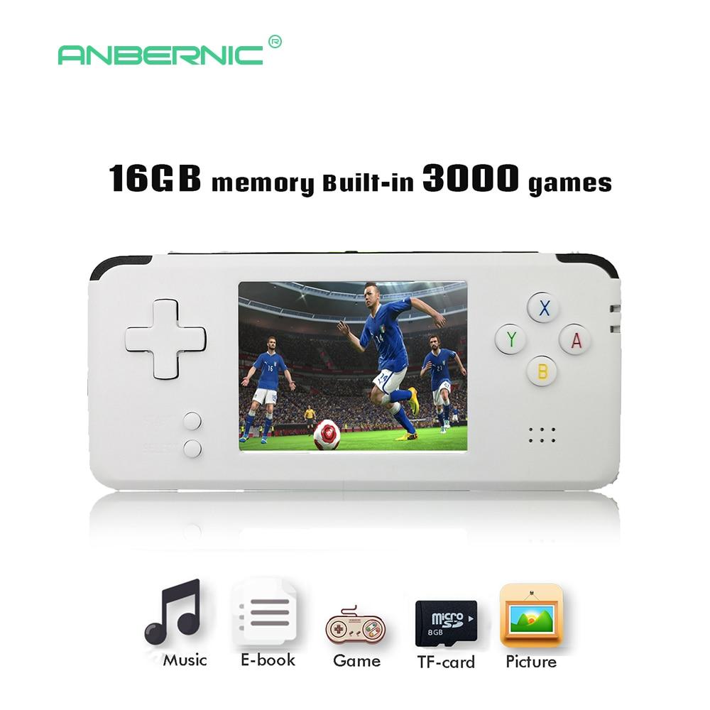 2018 de vídeo portátil consola de juegos portátil Retro 64 Bit 3 pulgadas 3000 Video juego Retro consola portátil de a TV RS-97 RETRO-GANE 07