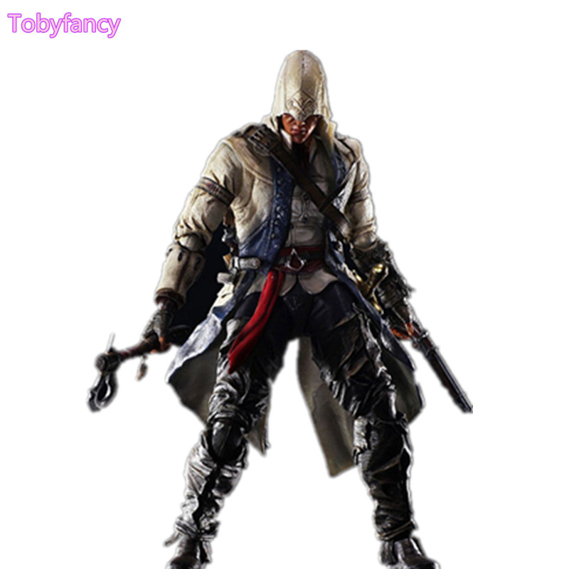 Assassin's Creed Play arts Kai Connor Kenway Action Figure Collection Model Toy PVC 260mm Assassin Creed PA Kai Doll Toys корбиран э assassin s creed цикл i анкх исиды