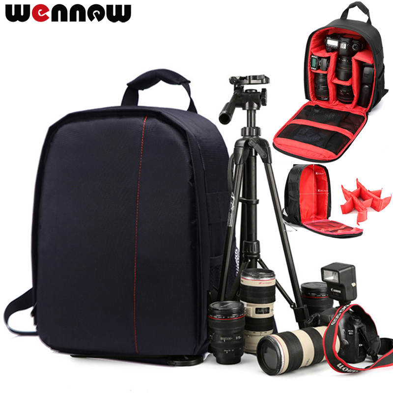 wennew DSLR Bag photography Camera Backpack Case for Olympus OMD EM1 E-M10 Mark III II 3 2 EM5 EM10 OM-D E-M1 E-M5