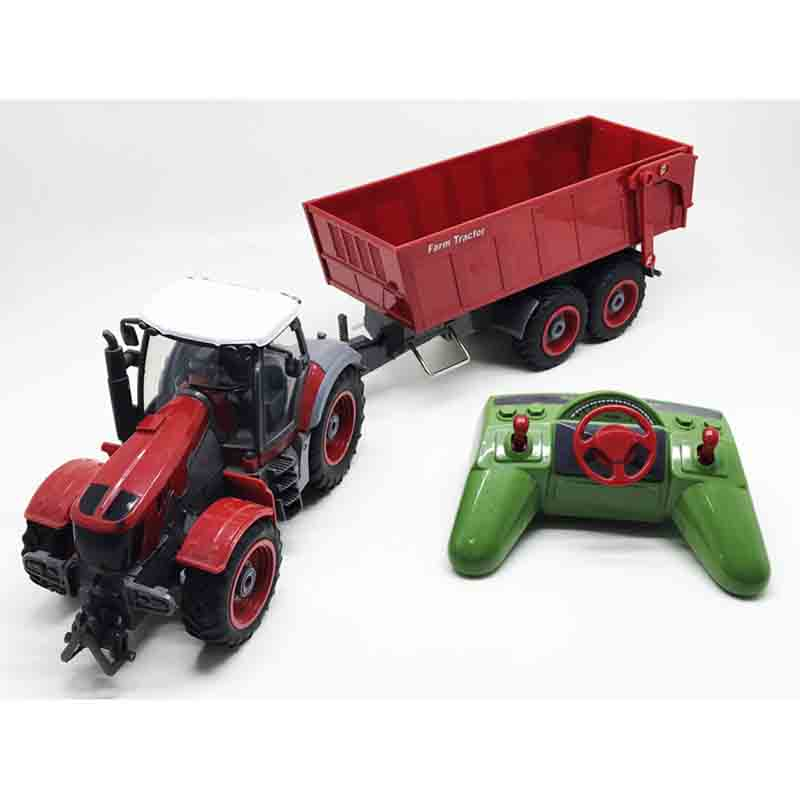 Big RC Trailer Tractor Kids Electric Toy Car Big RC Truck Trailer Children RC Trailer Farm Toy Car With Remote Control toys for boys rc model big off road rally trucks remote control truck rc truck trailer hercules remote control toys rc trailer