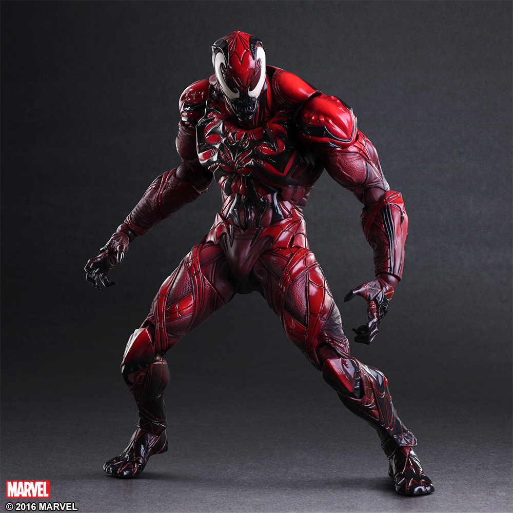High-Quality PVC Model Play Arts Movie Hero Spider Men Villain Revised Red Venom Action Figure 23CM Doll Model Toy Children Gift wvw 18cm hot sale movie hero spider man venom play arts model pvc toy action figure decoration for collection gift