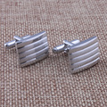 Fashion Mens Gift T-Shirt Cuff links Silver Plated