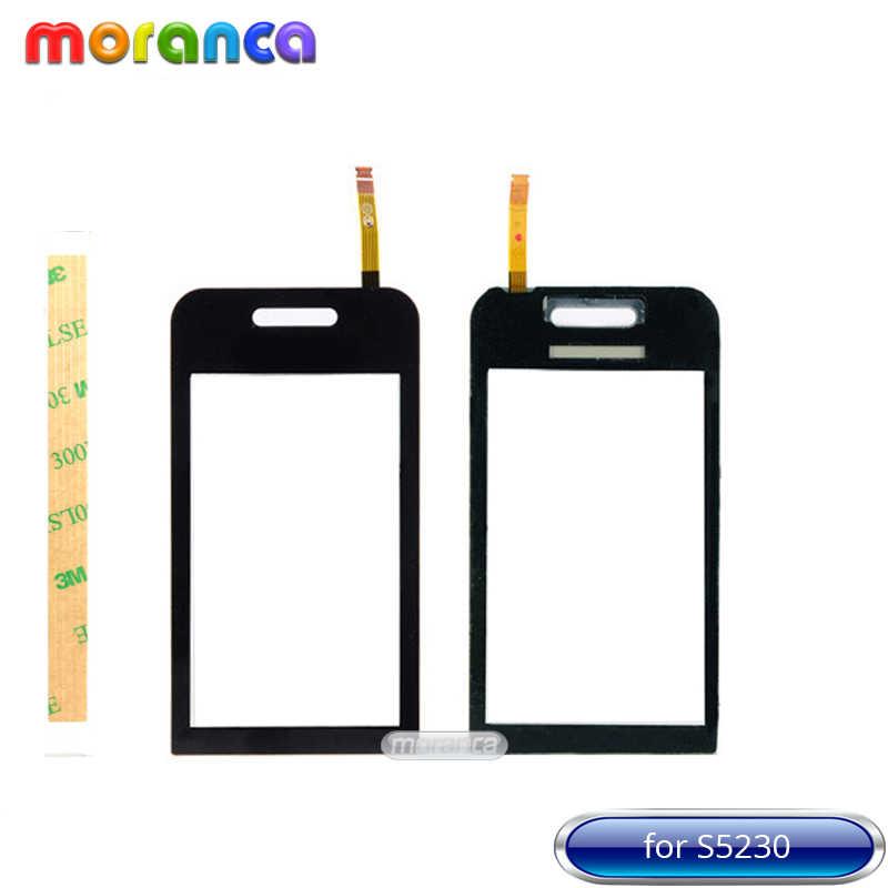 3.0 ''para Samsung Galaxy Tocco Lite S5230 S5233 Lente Do Painel de toque Touchscreen Tela de Toque Digitador touch Sensor de Vidro Preto Branco + 3 m Fita