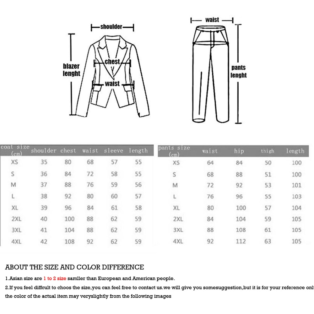 Fit Grey Pantalon light as blanc D'affaires De Mariage Slim Chart Made ivoire Color Picture Beige Costumes Noir Les gris Femmes Custom Smokings kaki charcoal Bouton burgundy Deux satin Royal Bleu marine bleu brown Pour Pantalon Shown Chart color manteau aqOSExgpUw