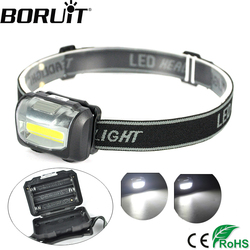 Boruit cob led headlamp mini headlight flashlight rainproof outdoor camping head light lamp torch lantern power.jpg 250x250
