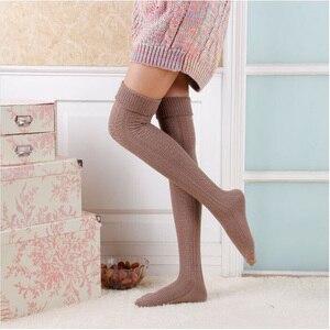 Feminino Sexy Over Knee Sock New Fashion Rain Boot Cuff Socks Long Thigh High Socks Meias Meninas SK80021+30